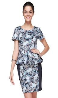 Model Baju Batik Casual Wanita