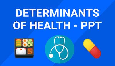 Determinants of health ppt, Nursing notes, ppt for download, Community Health Nursing ppt