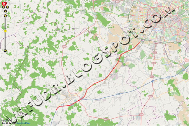 Участок карты с GPS-треком за 2 июня 2013 года
