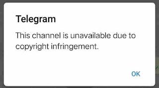 How to remove telegram copyright infringement content