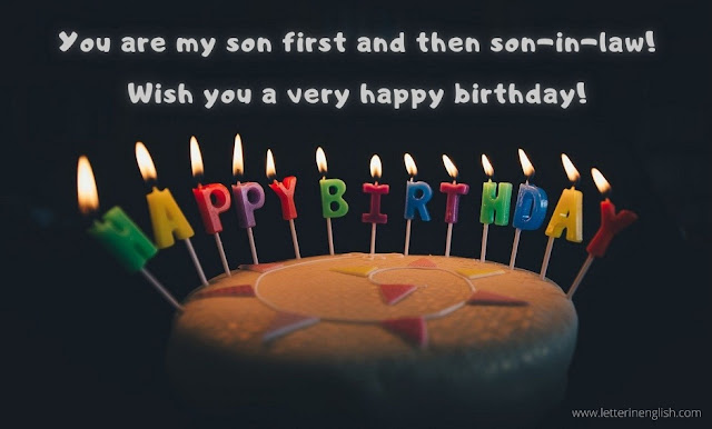 Birthday wishes sample for damad image