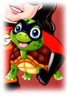 caricatura tartaruga doméstica