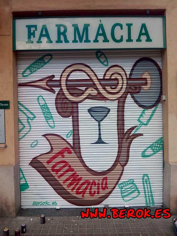 graffitis farmacias Barcelona