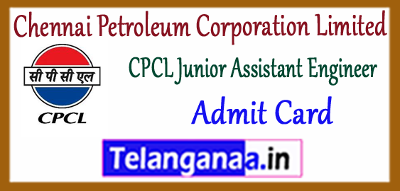 CPCL  Chennai Petroleum Corporation Limited Exam Syllabus Assistant Junior Engineer Admit Card 2017-18