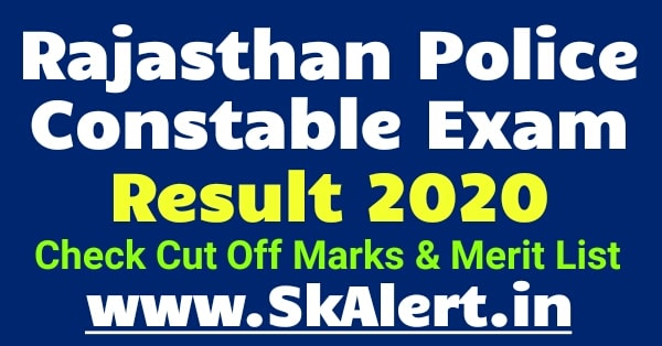 Rajasthan Police Constable Result 2021 Name & Roll Number Wise | Check Cut Off Marks, Merit List | Rajasthan Police Result 2021
