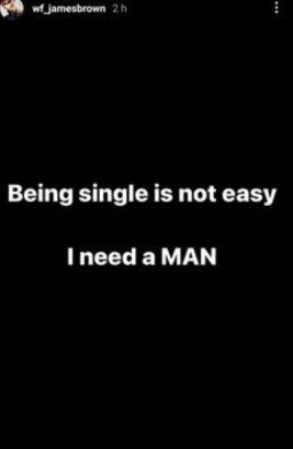 I am single, I need a man in my life- James brown is searching for a Boyfriend
