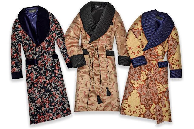 mens luxury silk dressing gown quilted robe smoking jacket paisley luxury vintage loungewear for men