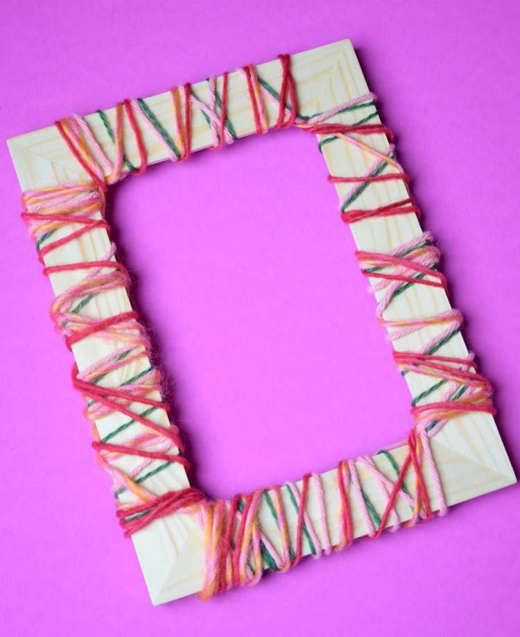 Yarn Wrapped Picture Frames for Mom or Grandma | What Can We Do With ...