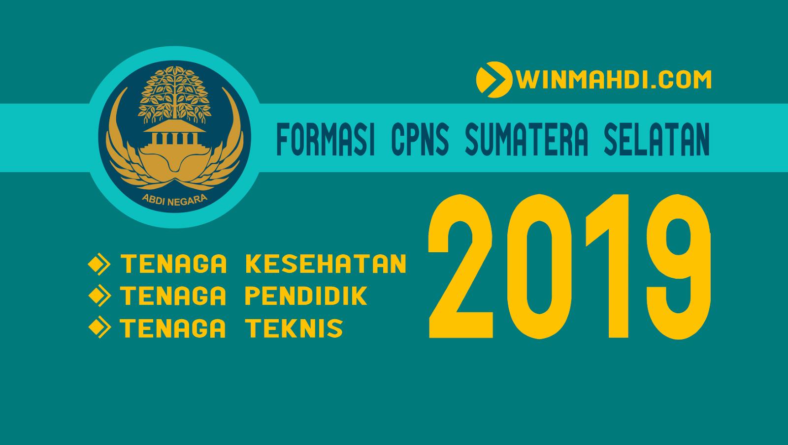Daftar Formasi CPNS Sumatera Selatan 2019
