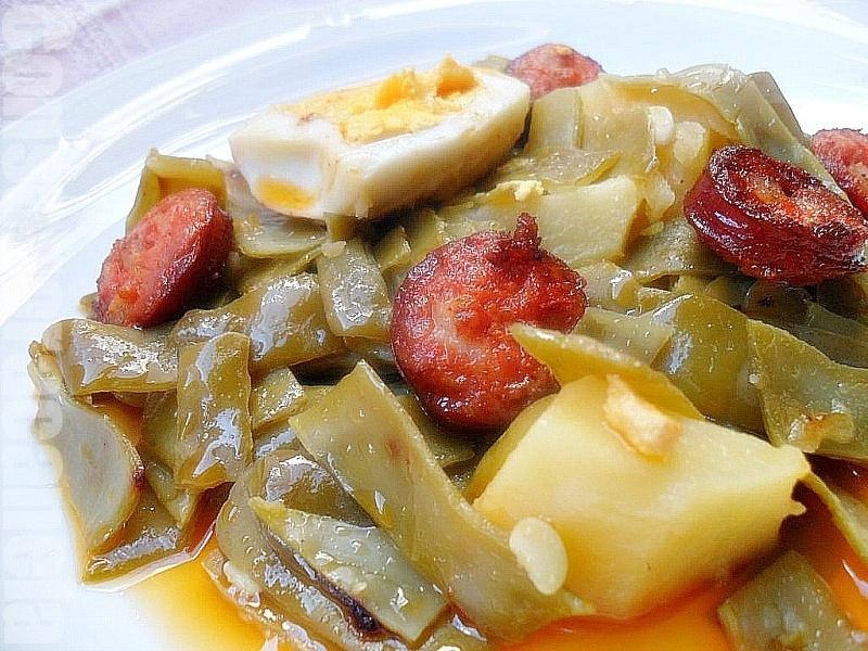 Con sabor a canela jud as verdes con chorizo - Judias con chorizo y patatas ...