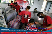 Barbershop Jember Beri Pelayanan Cukur Gratis Kepada Seratus Prajurit Yonif 509