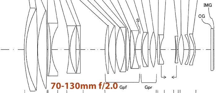 Оптическая схема объектива 70-130mm f/2.0 от Tamron