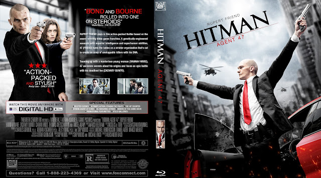 Capa Bluray Hitman Agent 47