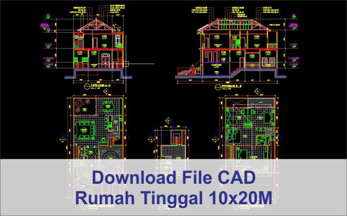 download rumah 10x20 File AutoCad