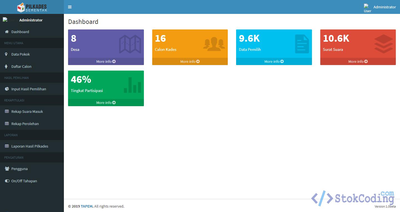 Aplikasi Managemen E-Voting Pilkades (Codeigniter)