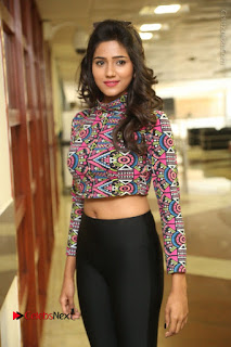 Actress Shalu Chourasiya Stills in Black Leggings at Marriage Needs Bridal Fashion Week 2017 Logo Launch  0045.JPG