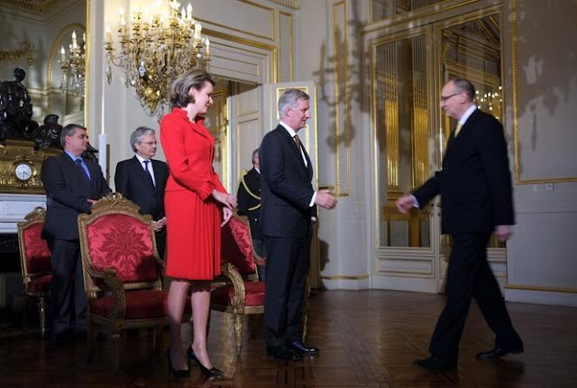 King Philippe of Belgium and Queen Mathilde of Belgium hosted the second New Year's reception
