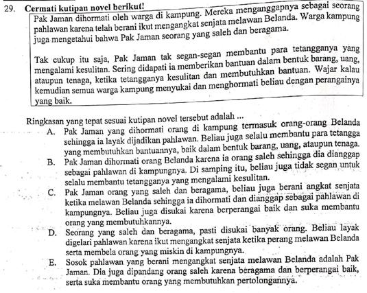 Contoh Soal Dan Pembahasan Menyusun Ringkasan Cerita Zuhri Indonesia