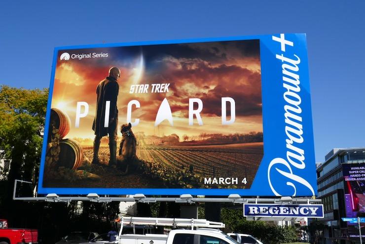Star Trek Picard Paramount plus launch billboard