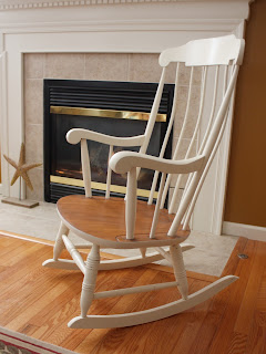Painted vintage rocking chair