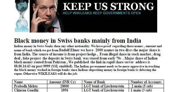 9999 Nu Than: Black Money Holders In Swiss Bank From India