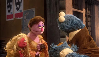 Cookie's Crumby Pictures Les Mousserables. We see Cookie Monster as Jean Bonbon. Sesame Street Episode 4421, The Pogo Games, Season 44.