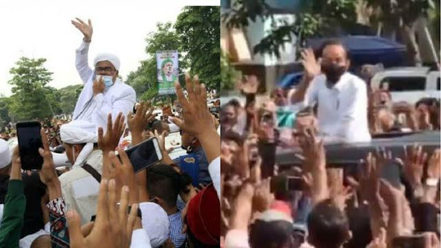 Kubu Ha6i6 Ri2ieq Yakin Polisi tak Berani Menindak Kerumunan yang Disebabkan Jokowi