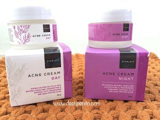 Scarlett Whitening Acne Day - Night Cream