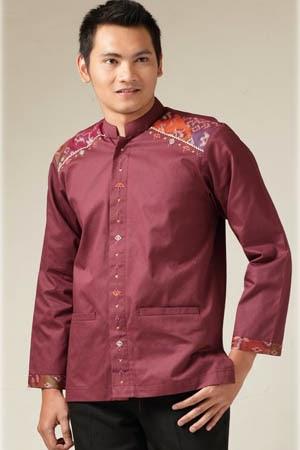 Model baju gamis muslim pria terbaru casual