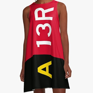 Holding Point Sign A-Line Dress