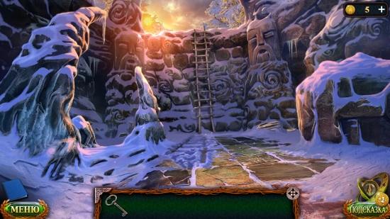 поставить лестницу и перелезть через стену в игре затерянные земли 5