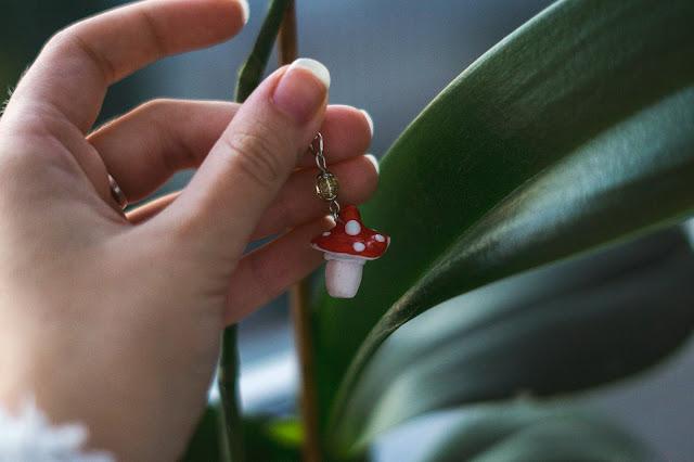Wrześniowy muchomor breloczek