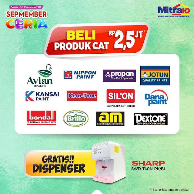 #Mitra10 - #Promo Beli Cat 2,5 Jt Dapatkan Gratis Dispenser Sharp (s.d 29 Sept 2019)