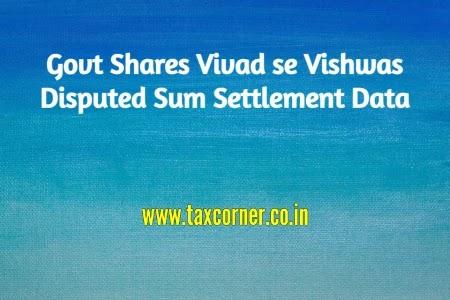 Govt Shares Vivad se Vishwas Disputed Sum Settlement Data