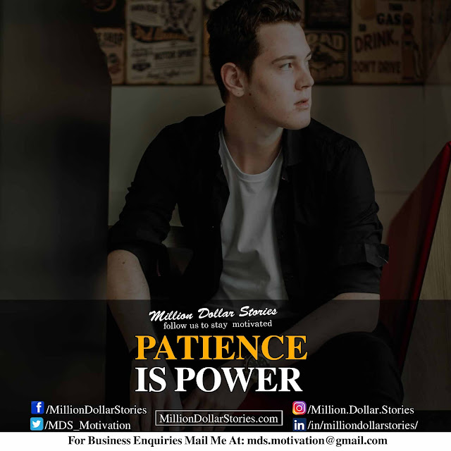 good morning motivation : patience is power