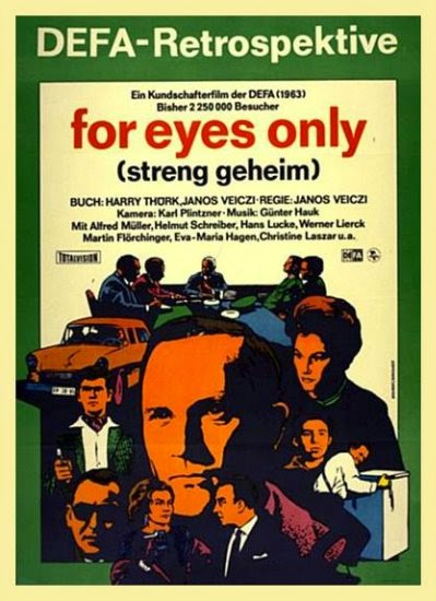 l'affiche du film For Eyes Only, tourné en 1963