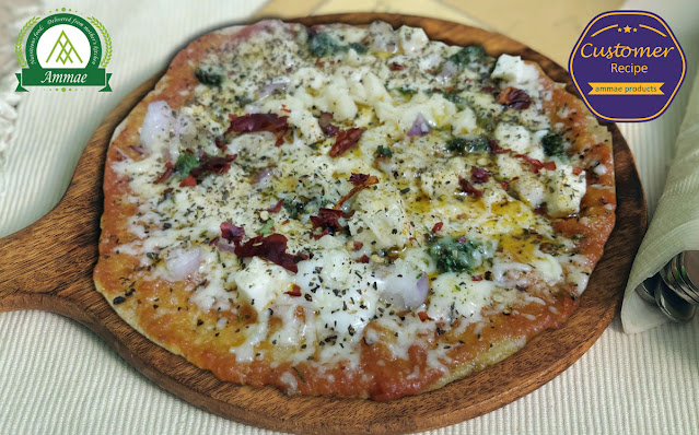 Homemade Pizza - Using Ammae AMWHEA 80-20, All purpose flour