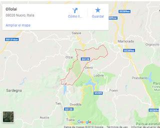 Ollolai ubicacion en el mapa