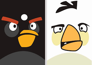 Angry Birds Party Free Printable Banners.