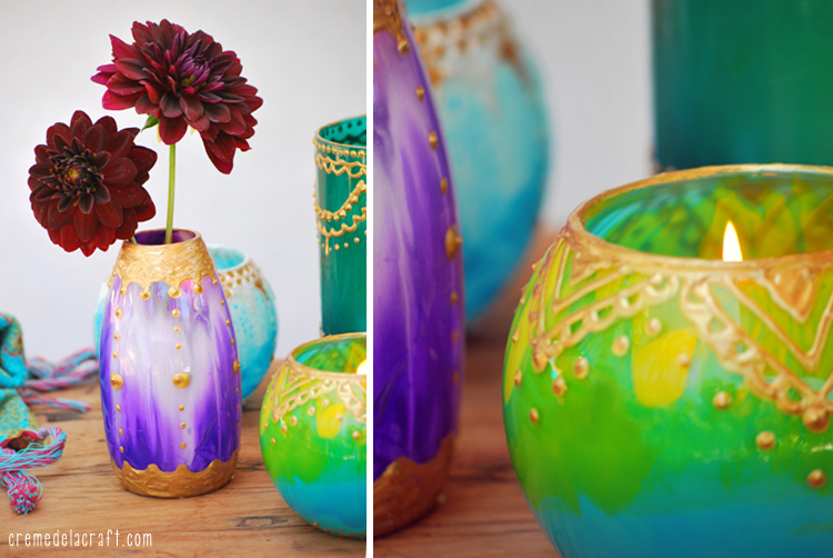 Diy Moroccan Candle Holders From Glass Jars Paint