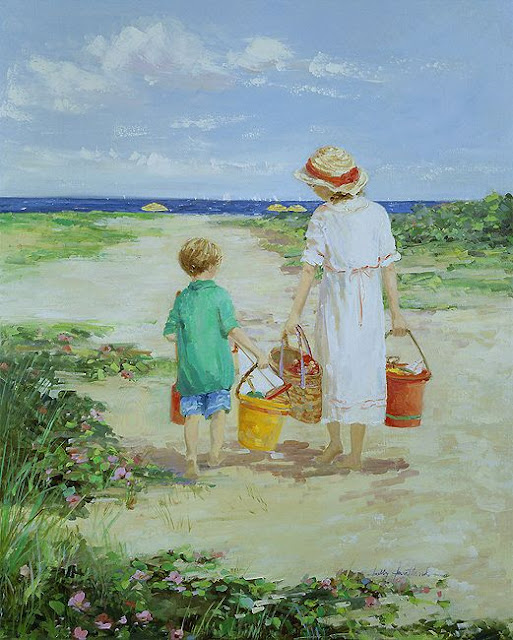 Sally Swatland A Day at the Beach Nantucket