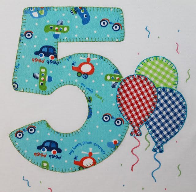 camiseta cumpleaños 5 años globos