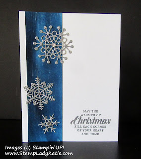Showflake card made with Brusho Paint, Shimmer Paint and Stampin Up Shimmery Cardstock