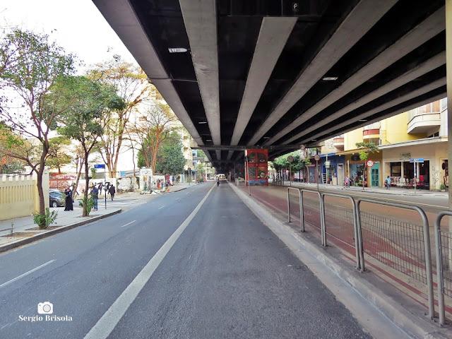 Vista da parte inferior do Minhocão - Campos Elíseos - São Paulo