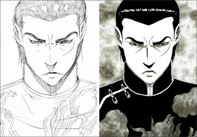Sketched & inked versions of Lan Di