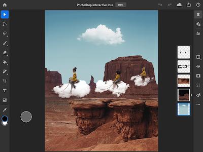 Tampilan (UI) Adobe Photoshop for iPad
