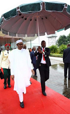 President  Buhari departs for Kenya Photos