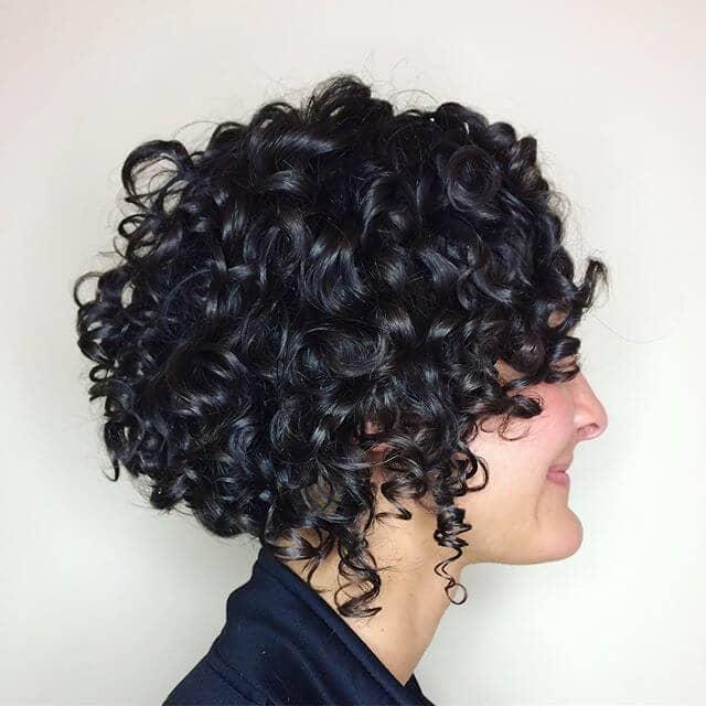 curly hair black hair