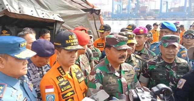 Panglima TNI: Ada Titik Terang Lokasi Bodi Lion Air