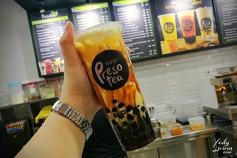 Presotea Philippines Blog Review by YedyLicious Manila Food Blog, Presotea Milk Tea Branches Menu Prices Contact No., Presotea The Annex Sm North EDSA, Presotea SM Marikina, Presotea SM Cherry Shaw, Presotea Robinsons Magnolia, Presotea Brew-To-Order Tea Beverages, Milk Tea Teaspresso Machine,  Ali-Shan Iced Tea, Japanese Genmaicha Milk Tea with Red Bean, Brown Sugar Latte with Black Pearls, PPJ MIlk Tea, Apple Passion Yakult, Presotea Best Milk Tea in Taiwan is now in the Philippines, Presotea Website, Facebook, Instagram Twitter